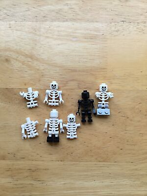 LEGO White Skeleton Minifigure with Swivel Arms Halloween Lot Of MINIFIGURES