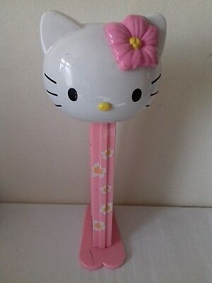 Giant Hello Kitty Pez Dispenser 29cm Tall Novelty Toy Pink with Flowers