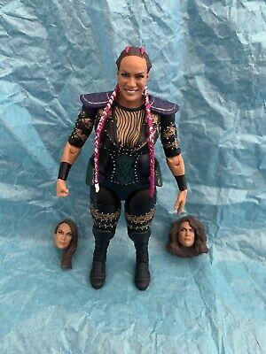 WWE NXT Mattel Elite Nia Jax Figure With 3 Interchangeable Heads.