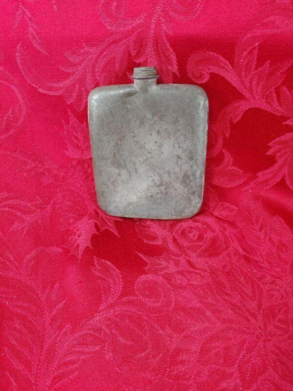 Vintage England Small Metal Flask