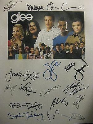 Glee Signed Pilot Script X16 Dianna Agron Chris Colfer Jane Lynch Morrison repnt