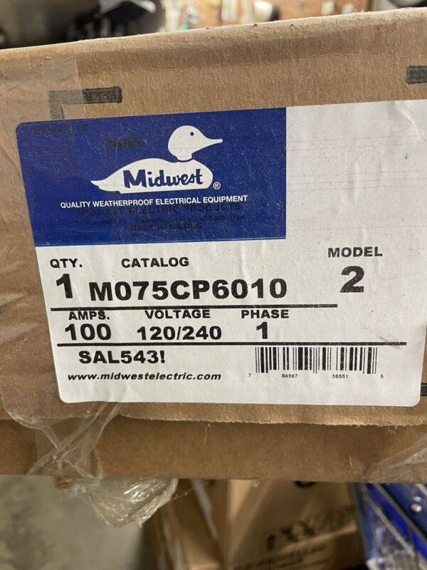 Midwest M075CP6010 100A Metered Power Pedestal