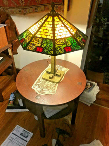 Antique ARTS and CRAFTS  B&H table lamp (Stickley Era) w6081