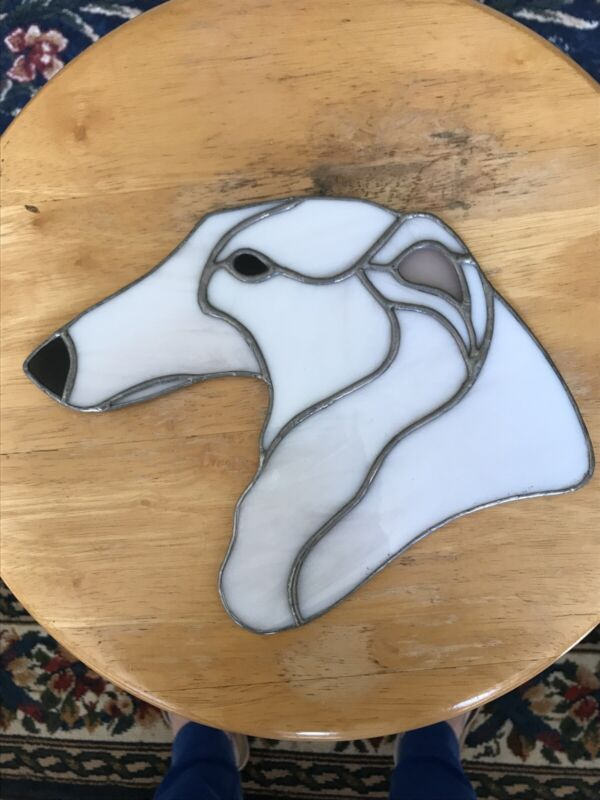 Stained Glass Borzoi Hanging