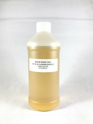 Tech West Dental Compressor Oil 1 Bottles 16 Fluid OZ Ref #CO-100 -FDA