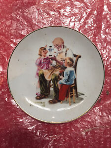 The toy maker Norman Rockwell Plate