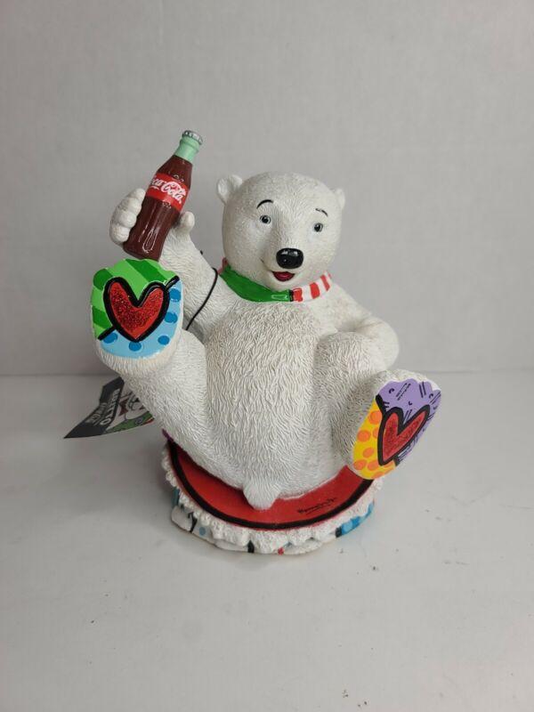 Romero Britto Coke/Coca Cola Baby Polar Bear Figurine