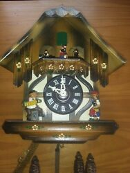Cuckoo Clock German Black Forest working  Musical Chalet 1 Day CK2365