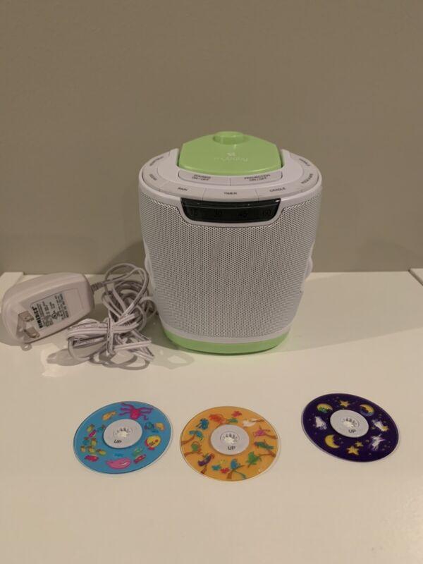 Homedics Mybaby SoundSpa Lullaby, Projector/Sound Machine MYB-S300 3 disc Tested