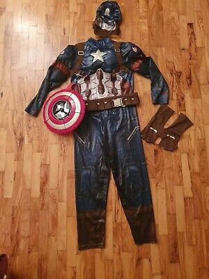 Costume Capitan America Originale Disney Store Bambino 10 anni + Scudo gioco