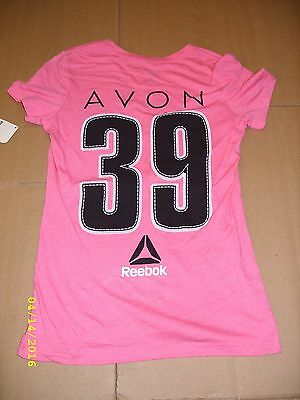 (REEBOK - AVON 39 - THE WALK TO END BREAST CANCER - LADIES T-SHIRT (BH4686) *NEW*)