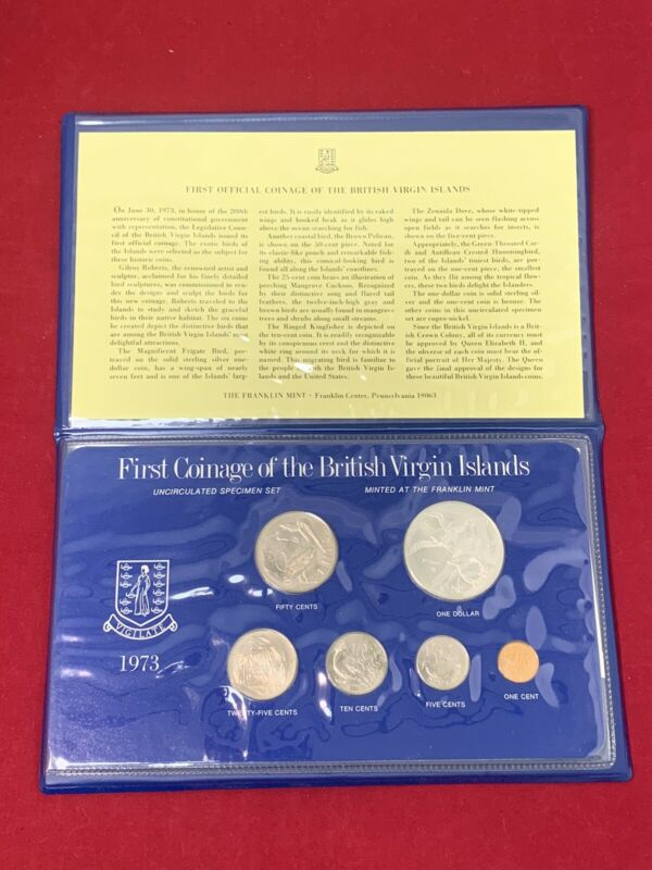 1973 First Coinage Of The British Virgin Islands, The Franklin Mint