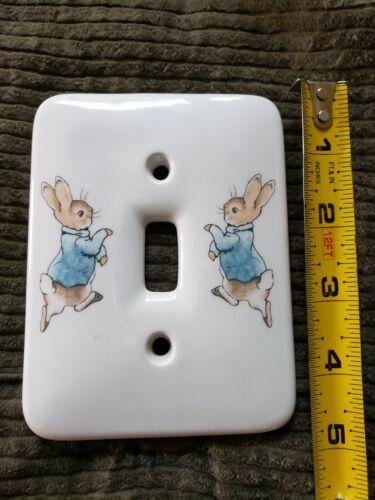 Wedgwood Single Toggle Light Switch Plate Beatrix Potter Peter Rabbit