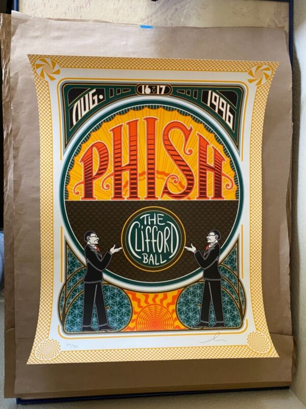 Phish Clifford Ball Poster - Signed & Numbered August 16-17 1996 #/750