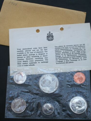 1968 Canada 6 Coin  Mint Set  ** FREE Shipping **