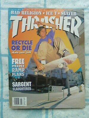Thrasher Skateboard Magazine / January 1992 Wade Speyer Dogtown Slayer
