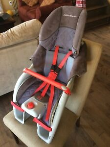 Toddler Bicycle seat with custom made cushion.