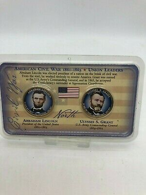 American Civil War 1861-1865 Union Leader Coin Set