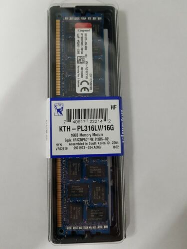 Kingston 16GB (1x16GB) 1600MHz DDR3L Reg ECC Low Voltage DIMM KTH-PL316LV/16G