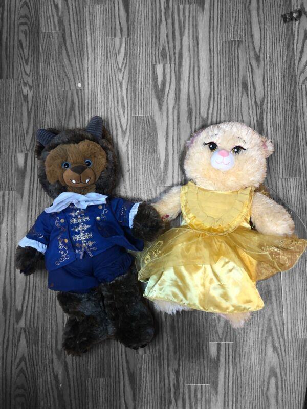 Disney Build A Bear Pair Ballroom Outfit Plush Beauty and The Beast Pair 2017