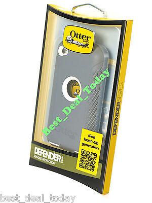 OEM Otterbox Rugged Defender Case For Apple Ipod 4 4G 4th Gen Glacier White Grey