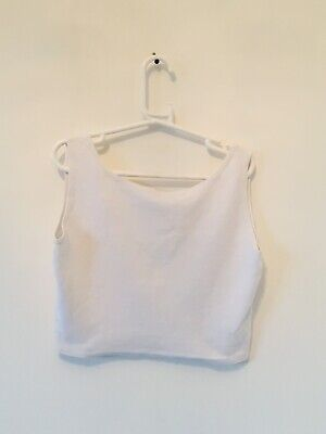 Used, CAPEZIO SPORT, White, Exercise, Gym/Yoga, Tank, Crop, Bra Top Size: Medium for sale  Shipping to Nigeria
