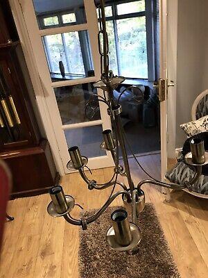 Brass 5 Light Ceiling Chandalier