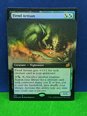 MTG Fiend Artisan Ikoria Light Play FOIL EXTENDED ART