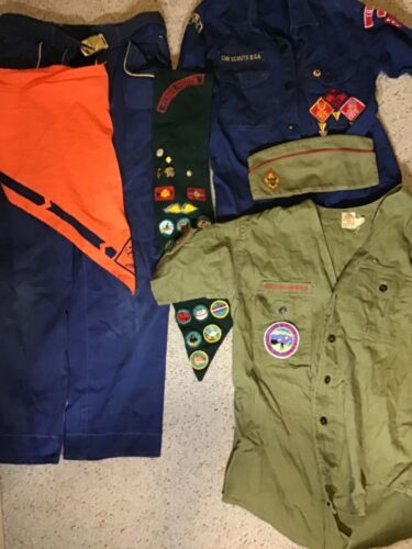 Lot Vintage Boy Scouts, Girl Scouts, Cub Scouts shirts pants hat and more