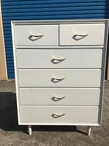 FREE DELIVERY! Mid Century Scandinavian Chest Of drawers Tallboy! Greensborough Banyule Area Preview