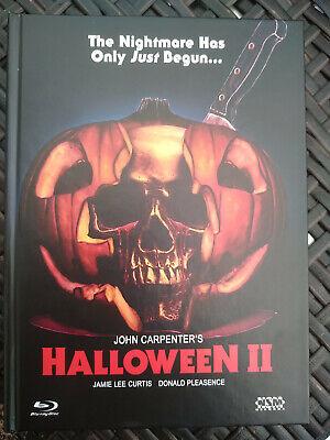 Rares MEDIABOOK: John Carpenters HALLOWEEN 2 (1981)& Doku: TERROR IM PARKETT