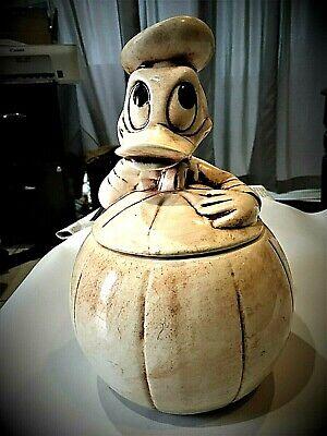 Walt Disney Productions Donald Duck Resting on his Pumpkin Collector Cookie Jar