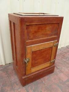 Genuine~Old~Antique~c1920s~Wood~&~Metal~Ice~Chest~Fridge Cessnock Cessnock Area Preview
