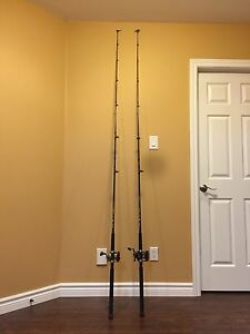 Downrigger rods and reels