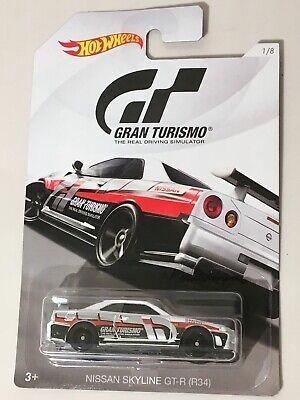 new 2018 GRAN TURISMO #1/8 NISSAN SKYLINE GT-R (R34)☆white;oh5☆☆Hot Wheels