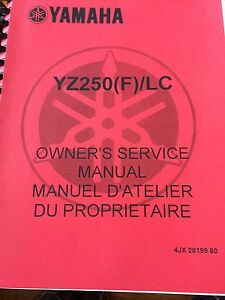 Yamaha YZ250(F)/LC Owners Service Manual