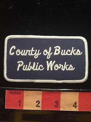Vintage COUNTY OF BUCKS PUBLIC WORKS Pennsylvania Patch ~ 66E9