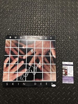"BUDDY GUY SIGNED ""SKIN DEEP"" RECORD COVER JSA COA RARE! BLUES LEGEND AUTOGRAPHED"