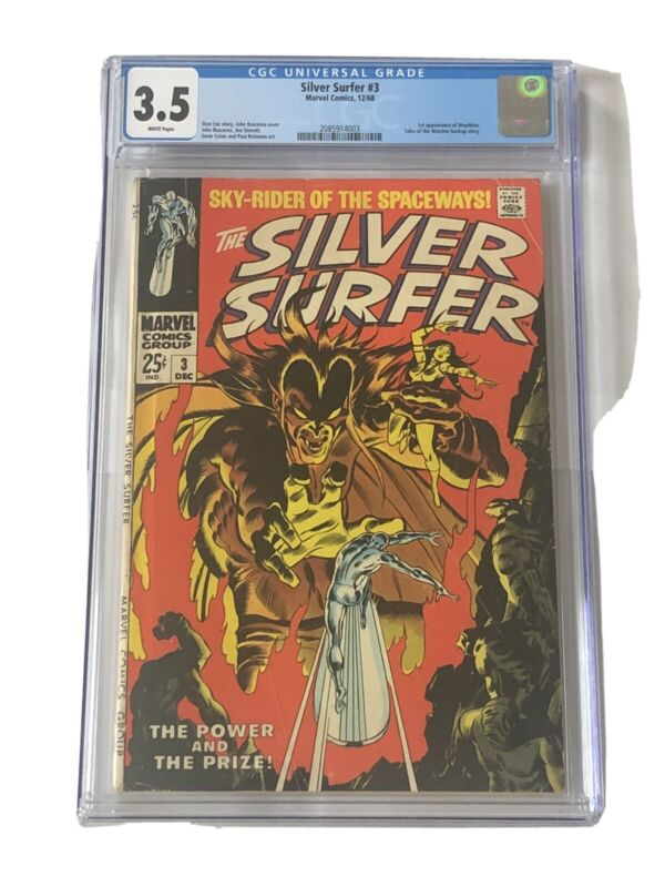 CGC 3.5 - Silver Surfer #3 - 1st Appearance of Mephisto. 1968.