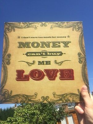 The Beatles Typographic Lyric Picture - Money Can't Buy Me Love Lyricology