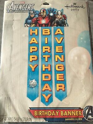 AVENGERS Assemble Party Birthday Banner Marvel Heroes Supply Decoration Hallmark - Marvel Heroes Party Supplies