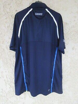 Polo lacoste sport tennis devanlay bleu marine ultra dry manches courtes 6