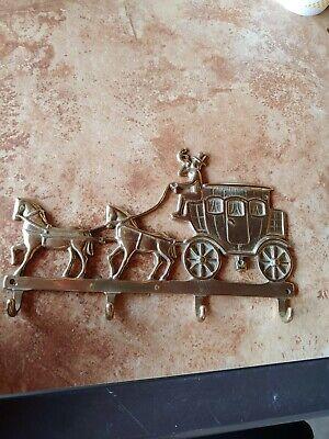 Italian cast brass key rack in Vintage Car design with 4 hooks . , used for sale  Douglas