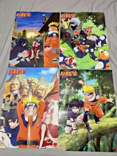 Lot of 4 Double Sided 16x22 Viz Media Naruto Posters- Gaara, Sasuke, Kakashi