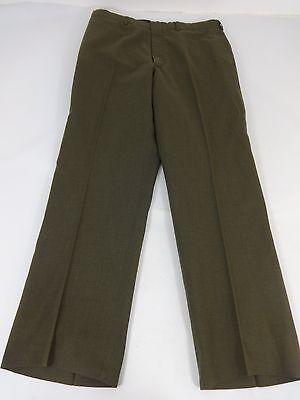 Mens 35R Tropical Green Military Service Dress Pants Class 3 NSN: 8405006119157