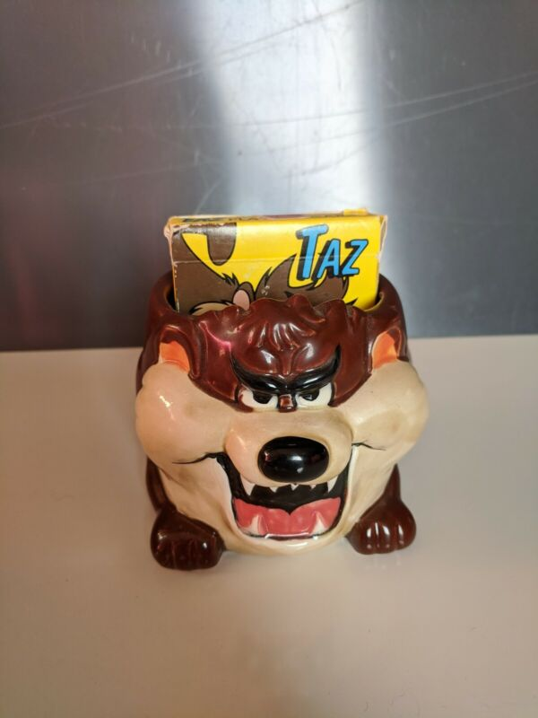 Warner Bros Looney Tunes Tazmanian Devil Taz Mug Christmas Vacation Vintage