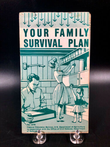 Vintage Your Family Survival Plan Brochure PA-578 1963 US Dept Agriculture