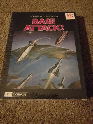 Computer Games - Base Attack! - Commodore VIC 20 Computer video game - BRAND NEW SEALED!!!