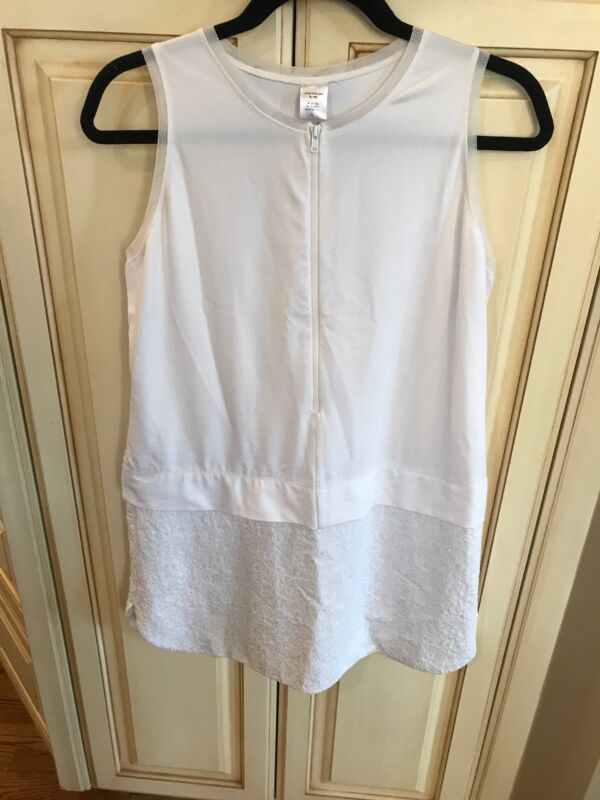 Jane Darling by Me White Sleeveless Stretchy Dress Sequin Tennis Skirt - L
