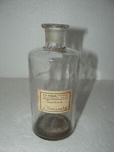 ancien bocal pot pharmacie flacon laboratoire apothicaire medicament etiquette ebay. Black Bedroom Furniture Sets. Home Design Ideas